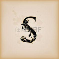 Vintage iniciales letra s photo