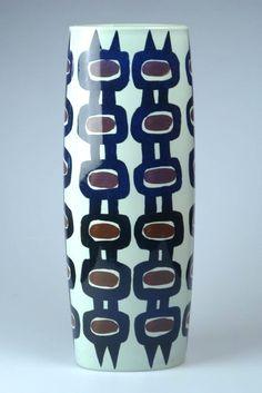Vase by Inge-Lise Koefoed for Aluminia, 1967