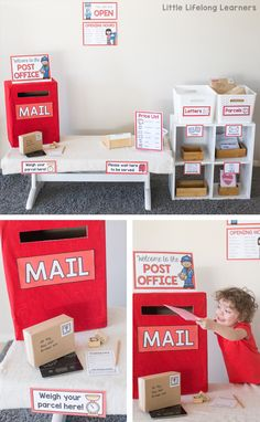 Post Office Dramatic Play For Letter Writing Unit Of Work Prep And Foundation Letter Writing Write A Letter Or Post A Postcard Imaginative Play Ideas For The Early Childhood Classroom Printables For Australian Teachers - Prep, Foundation, Kinderga Dramatic Play Themes, Dramatic Play Area, Dramatic Play Centers, Preschool Dramatic Play, Play Based Learning, Learning Through Play, Learning Centers, Learning Spaces, Mobile Learning