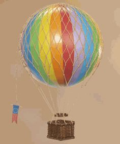 hot air ballons in all shapes and sizes :)