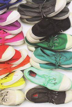 Des chaussures légère et de jolie couleurs pour l'été et l'automne.