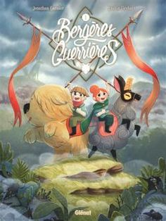 """Well, after a few month of hard work, I finally coming out of my cave…I'm still alive and I'm happy to show you the cover of my new comic book """"Bergères Guerrières"""" :) The book is almost finished and will be released in june ! Dreamworks, Le Lombard, Dragons, Beautiful Book Covers, Animation, Amelie, Design Reference, Book Illustration, Childrens Books"""