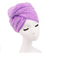 Shintop Brand New Dry Hair Cap Women's Waterproof Ribbon Lace Bow Style Double Layer Elastic Band Shower Hat for Bath Spa (purple) - Brought to you by Avarsha.com