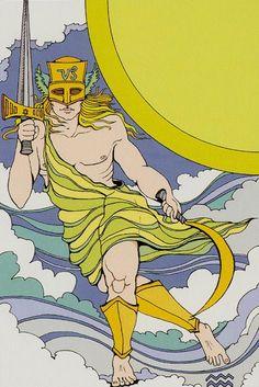 Tarot of the Sephiroth Knight of Swords SR- Schwerter 12 - Prince