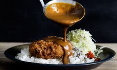 menchi katusu kare // hamburger croquette with Japanese curry sauce