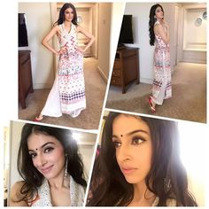 """Wearing a bindi , @payaljaindesign outfit n mojiris @juttichoo earrings @amrapali for #kolkata promotions .. Styled by @anishagandhi3 @rochelledsa…"""