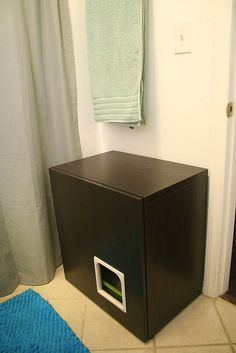 Litter box cabinet hack | Flickr - Photo Sharing!