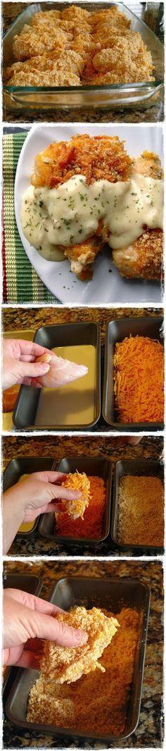 How To Crispy Cheddar Chicken