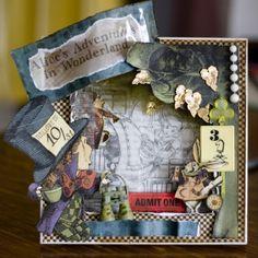 Arts And Crafts, Paper Crafts, Diy Crafts, Alice In Wonderland Crafts, Magic Of Oz, Graphic 45, Gift Certificates, Wizard Of Oz, Craft Tutorials