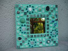 """Mosaik - Spiegel """"Muscheln"""" von Mosaikhandwerk auf DaWanda.com Mosaic Mirrors, Frames, Etsy, Home Decor, Marine Debris, Seashells, Projects, Decoration Home, Room Decor"""