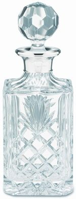 Sterling Silver Hallmarked Lead Crystal Spirit Decanter | Distinctly Silver | £154.99