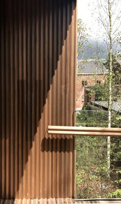 Architecture of Hope: Maggie's Cancer Centre in Oldham, UK by dRMM Urban Architecture, Amazing Architecture, Stainless Steel Door Handles, Poplar Tree, Wood Facade, Oak Bathroom, Garden Frame, Up To The Sky, Exterior Cladding