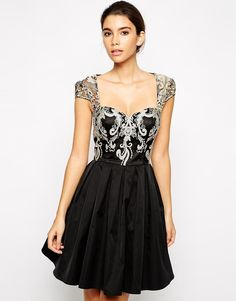 Chi Chi London | Chi Chi London Lace Prom Dress with Sweetheart Neck at ASOS