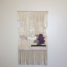 weaving by Mary Catherine Garrison, 25x46. cotton, wool and acrylic fibers.