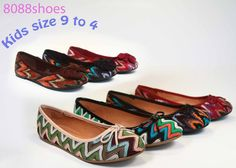New Girl's Casual Cute Slip On Flat Heel Round Toe Shoes Size 9 - 4 Multi  Color #SODA #CasualFlat