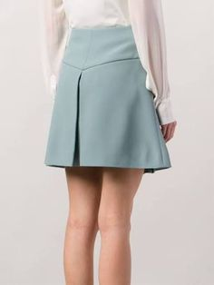 Find superb designer A-line skirts at Farfetch now for a brand new look. Browse luxury skater skirts from highly acclaimed leading labels. A Line Skirts, Short Skirts, Mini Skirts, Skirt Outfits, Cute Outfits, Cute Dresses, Casual Dresses, Korea Dress, Jupe Short