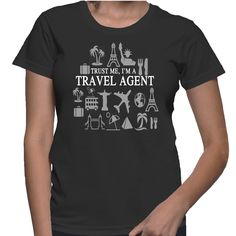 Although I don't looks like a travel agent by face, but trust me I am a travel agent :-P TIP: SHARE it with your friends, order together and save on shipping! This Exclusive Tshirt design is ONLY sold