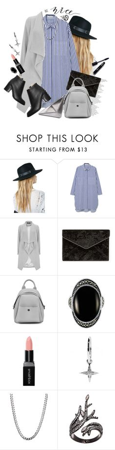 """""""Be Nice!"""" by hennie-henne ❤ liked on Polyvore featuring Killstar, MANGO, Rebecca Minkoff, Le Vieux, Smashbox, Meadowlark and Lord & Taylor"""