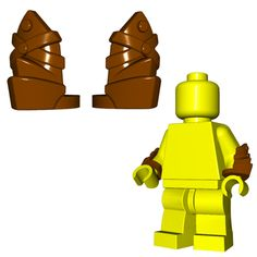 For those times when your LEGO® minifigures need arm protection but metal vambraces are too cumbersome, leather vambraces are the perfect solution! Lego Minifigure Display, Lego Minifigs, Lego Motorbike, Lego Guns, Lego Knights, Lego Ninjago Movie, All Lego, Lego War, Lego Figures
