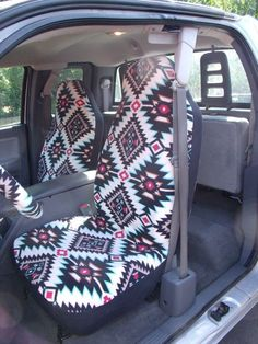 Reserved For Madison Vincent 1 Set Of Shadow Diamond Turquois Print Seat Covers And Steering Wheel Cover Custom Made Car