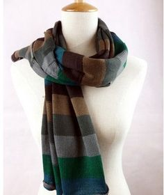 Fashion 2 colors spring and autumn scarf striped 200*50cm cotton keep warm scarf wraps free shipping. $9.99