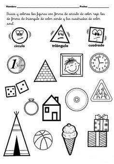 Preschool Curriculum, Preschool Lessons, Kindergarten Worksheets, Classroom Activities, Preschool Activities, Shapes Worksheets, Christian School, Play To Learn, Infant Activities