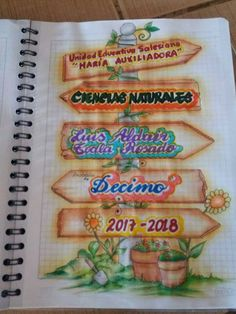 Ciencias naturales School Board Decoration, Diary Decoration, Page Decoration, School Decorations, Notebook Cover Design, Notebook Art, Notebook Ideas, Save Earth Posters, Project Cover Page