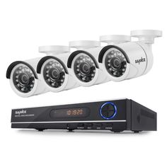 SANNCE 8CH 720P AHD DVR 4PCS 1200TVL IR Night Vision Outdoor CCTV Camera 24 LEDs Home Security CCTV System Surveillance Kit
