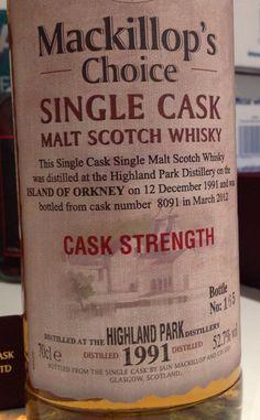 Highland Park 1991/2012 20yo 52.7%