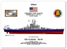 Artwork featuring the South Dakota Class Battleships Uss Indiana, Pacific Cruise, Uss Alabama, Navy Coast Guard, Us Navy Ships, Us Marine Corps, Military Weapons, Submarines, Aircraft Carrier