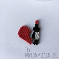 "Duo de broches ""j'aime le vin"" #broche #coeur #vin #miyuki #miyukidelica #coeurbrisé #jaimelevin #vinrouge #santé #alatienne #jenfiledesperlesetjassume #jenfiledesperlesetjaimeca #beads #brickstitch #diy #bijoux #bijouxfantaisie #jewelry #jewellery #ht_handmade #patronmaison #faitmain #faitmaison #bijouxtiy"