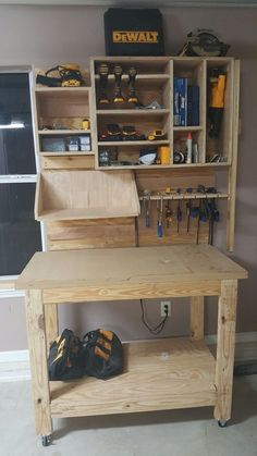 Tool cabinet plans pdf diy storage shelves bat garage shelfs sears cabinets overhead home depot workshop Garage Tool Storage, Workshop Storage, Garage Tools, Garage Shop, Diy Storage, Storage Ideas, Workshop Ideas, Garage Workshop, Car Garage