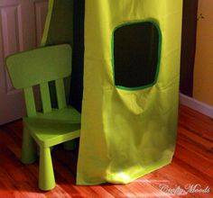 Make a Children's Play Tent with a Hula Hoop & Curtains!