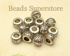 ♥ ♥ ♥ ♥ ♥ ♥ ♥ ♥  Condition: NEW Style: Barrel Shape Spacer Bead - Nickel Free, Lead Free and Cadmium Free Color: Antique Silver Size: 8mm x 5.5mm