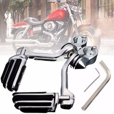 77.59$  Watch here - http://alionp.shopchina.info/go.php?t=32785803070 - Pair Chrome 1.25 inch 3.2cm Adjustable Long Mount Foot Pegs Pedals For Harley-Davidson Motorcycle 77.59$ #magazineonlinebeautiful