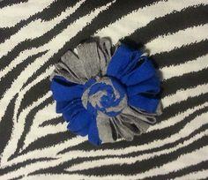 "Great For Cowboys Fan~ Fringe Flowers  3 "" Hair Bow Clip~ #Handmade"