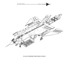 Avro Arrow, Aircraft Design, Technical Drawing, Cutaway, Military Aircraft, Airplanes, Fighter Jets, Models, History