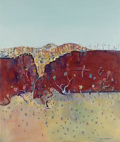 The Benalla Art Gallery is currently hosting one of Australia's most significant series of landscape paintings created by Fred Williams. Abstract Landscape Painting, Watercolor Landscape, Landscape Art, Landscape Paintings, Abstract Art, Landscape Drawings, Australian Painting, Australian Artists, Fred Williams
