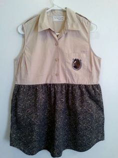 Xsmall to Small upcycled funky cowgirl tunic/ by RagTagsOriginals, $42.99