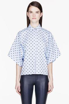 KENZO Blue Mini Eye casual blouse