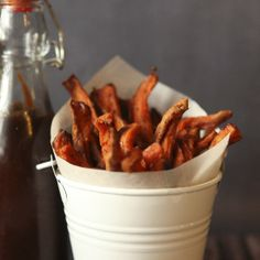 Sweet potato fries with a hint of spice.  The perfect blend of sweet and spicy.