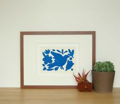 brika cobalt blue pajaro print by scout & lilly.