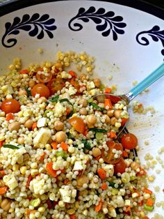 Israeli Couscous Salad with Mint Vinaigrette - gorgeous!