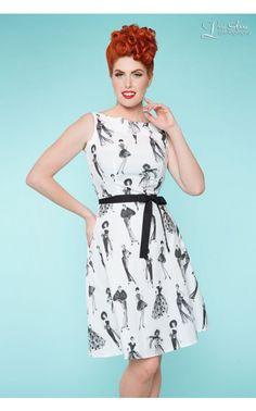 Monique Dress in Chic Ladies Print