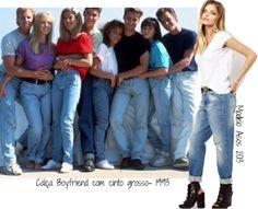 moda anos 90 calça boyfriend com cinto …