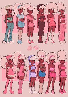 Black Cartoon Characters, Black Girl Cartoon, Black Girl Art, Black Girls, Fictional Characters, Cute Art Styles, Cartoon Art Styles, Art Inspiration Drawing, Character Design Inspiration