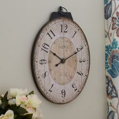 Three Posts Wall Clock & Reviews | Wayfair