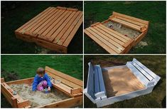 It doesn't matter what size or how fancy it is, there is something about the feel of the sand thought your toes. This is a good project for the summer once built your kids will love this sand pit.