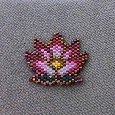 lotus brick stitch