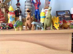 I miei dinosauri di gomma